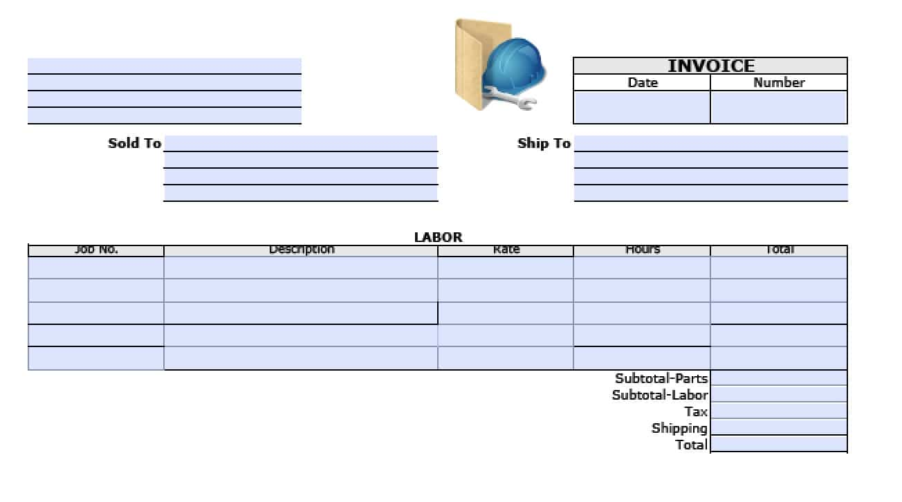 Free General Labor Invoice Template | Excel | PDF | Word (.doc)