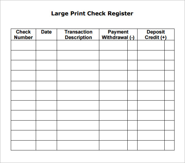 sample checkbook register worksheet   Kleo.beachfix.co