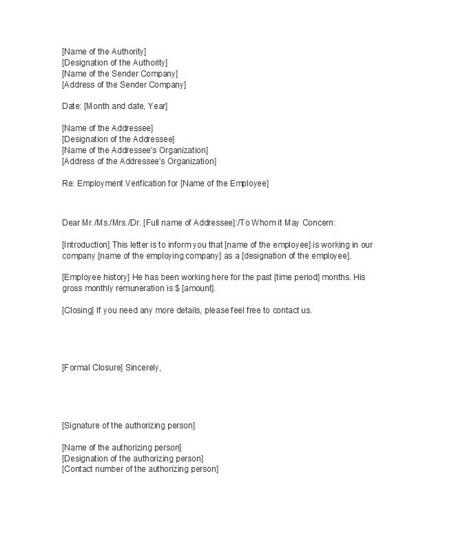 Employment Confirmation Letter   Job Confirm Letter with Sample