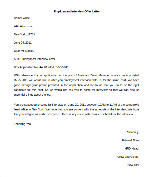 Letter of employment template word charlotte clergy coalition job offer letter template word spiritdancerdesigns Gallery