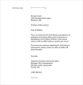 Verification of employment letter template word textpoems letter of employment template word charlotte clergy coalition spiritdancerdesigns Image collections