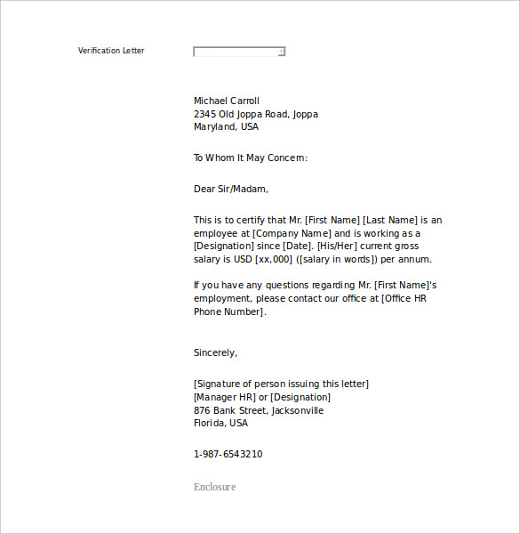 Free Employment Letter Template – 28+ Free Word, PDF Documents