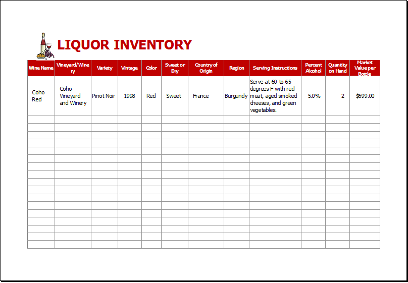 liquor inventory template   Boat.jeremyeaton.co