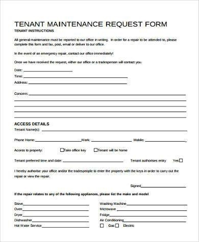 Collection of Solutions for Maintenance Request Form Template Of