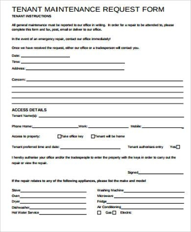 tenant repair request form template   Tier.brianhenry.co
