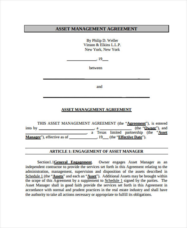 Management Agreement Templates  11 Free Word, PDF Format Download