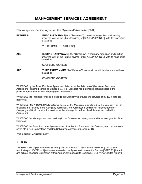 project agreement template project management agreement template