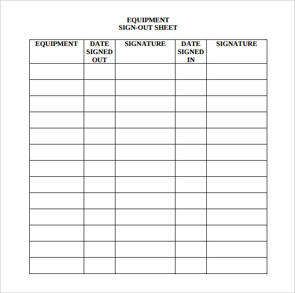 Printable Medical Sign In Sheet