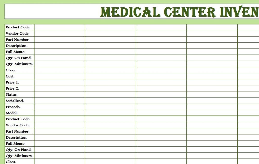 23 Images of Medical Inventory Template | leseriail.com