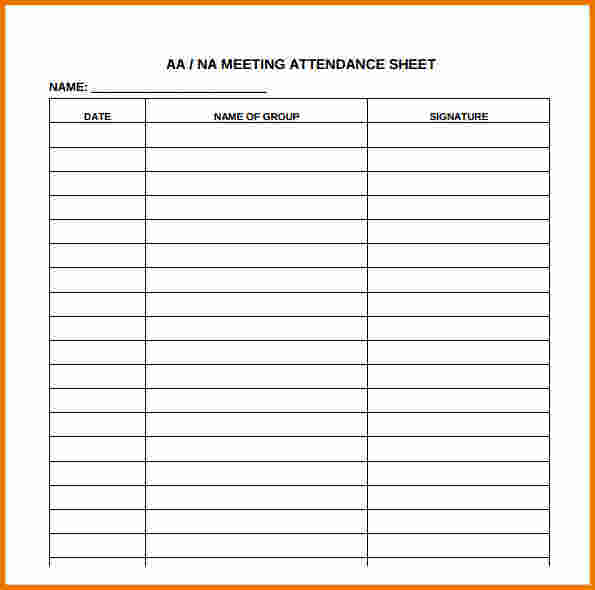 11 Free Sample Meeting Attendance Sheet Templates   Printable Samples