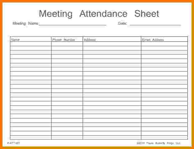 Meeting Attendance Sheet Template | charlotte clergy coalition