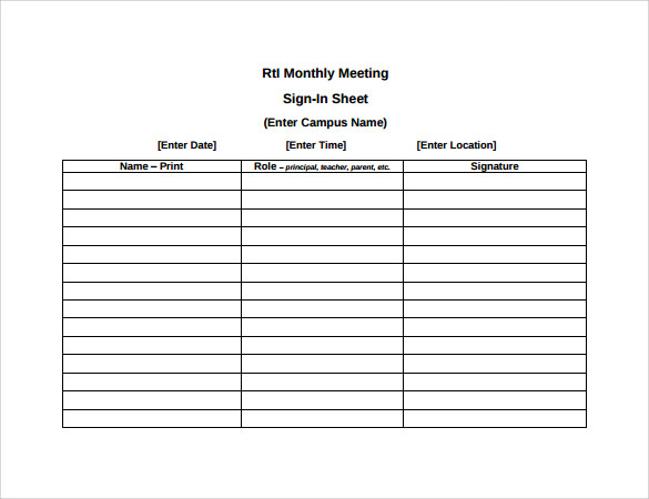 meeting sign in sheets   April.onthemarch.co