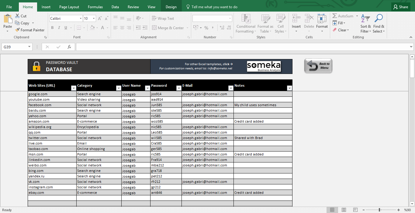 password template for excel   April.onthemarch.co