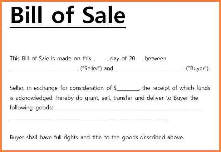 Microsoft Word Bill Of Sale Template   Salonbeautyform.com