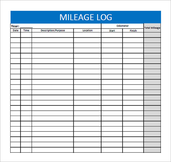 mileage form template 8 mileage log templates free word excel pdf