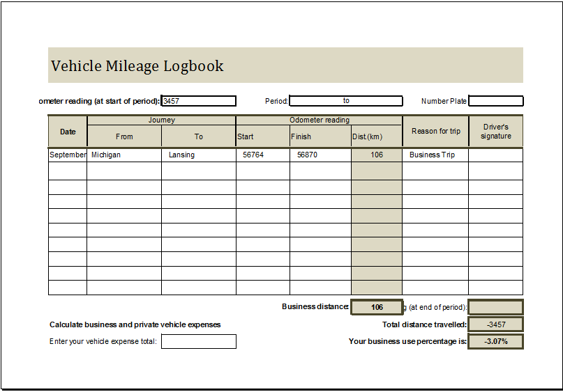 Mileage log book template charlotte clergy coalition vehicle mileage book vehicle mileage log book ms excel editable fbccfo Images