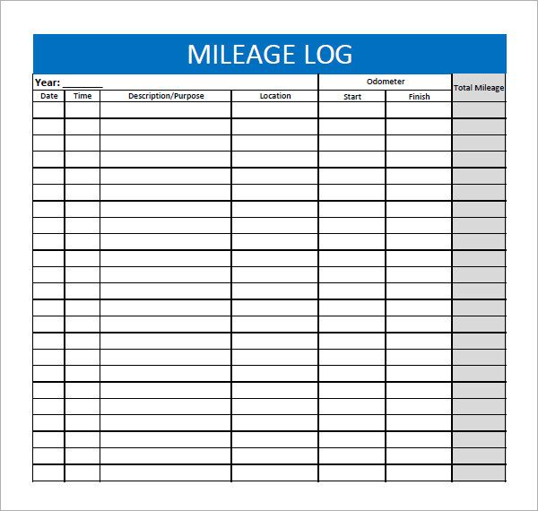 mileage log forms   Gecce.tackletarts.co