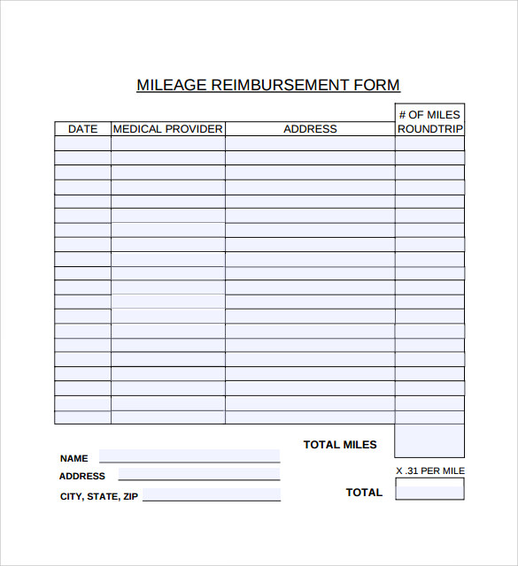 mileage reimbursement forms   Boat.jeremyeaton.co