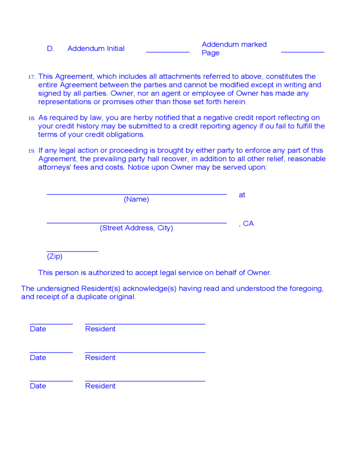 Month To Month Room Rental Agreement Template Charlotte Clergy
