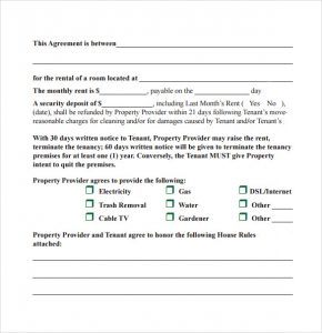 month to month lease agreement template