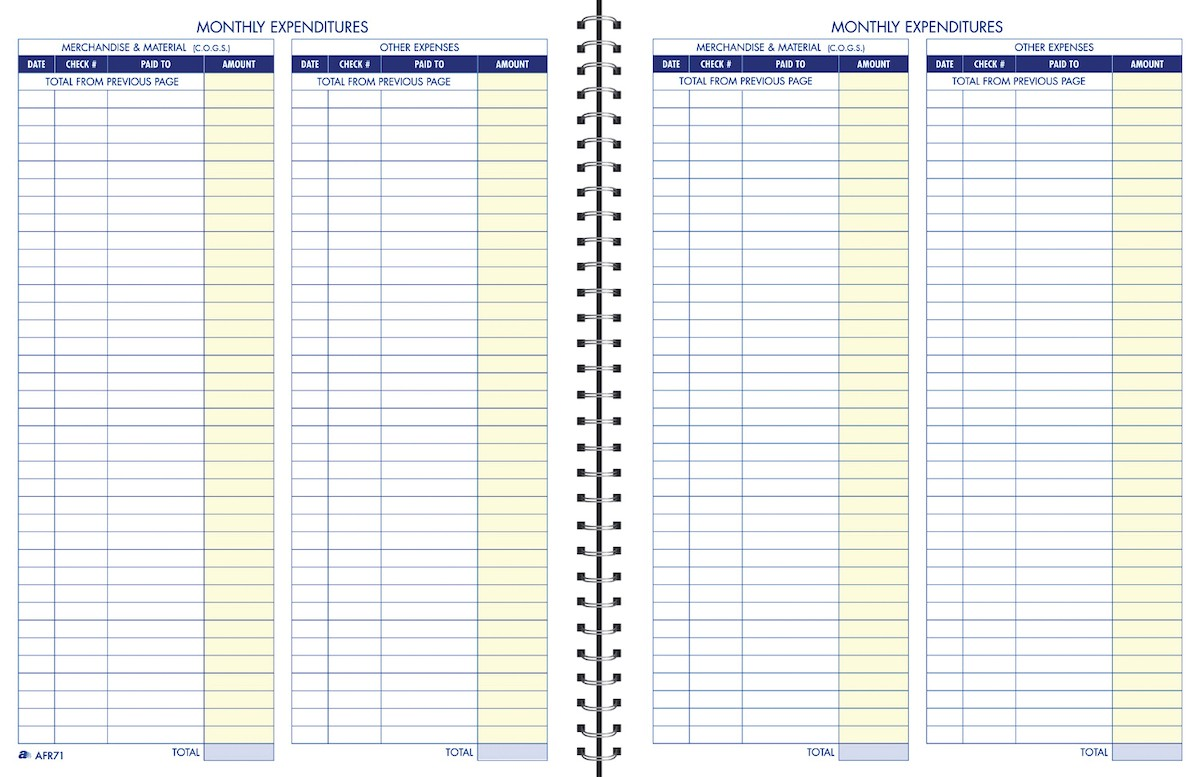 Amazon.: Adams Bookkeeping Record Book, Monthly Format, 8.5 x