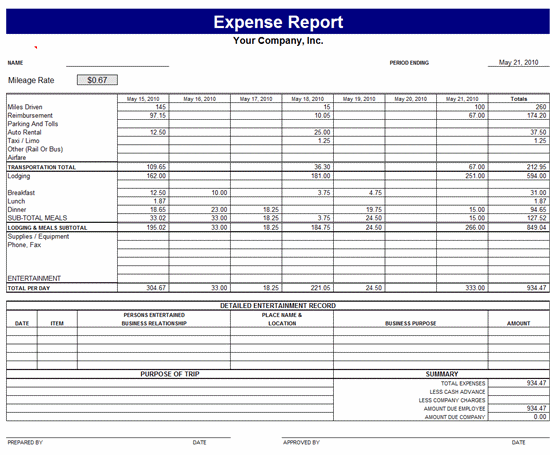 personal monthly expense report template   Tier.brianhenry.co