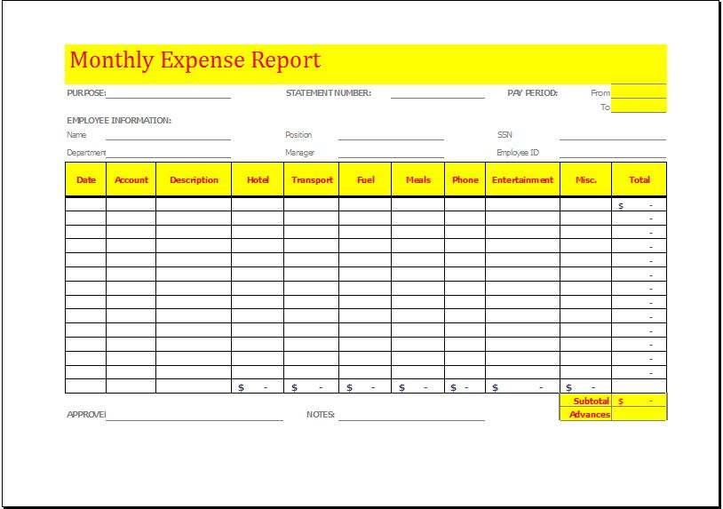 office expense report   Tier.brianhenry.co