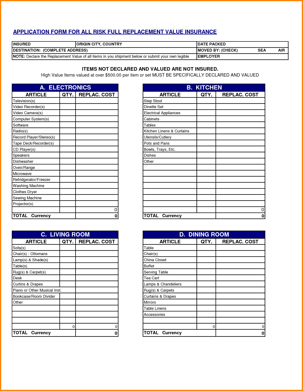 Moving Inventory List Template | charlotte clergy coalition