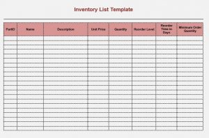 moving inventory list template charlotte clergy coalition