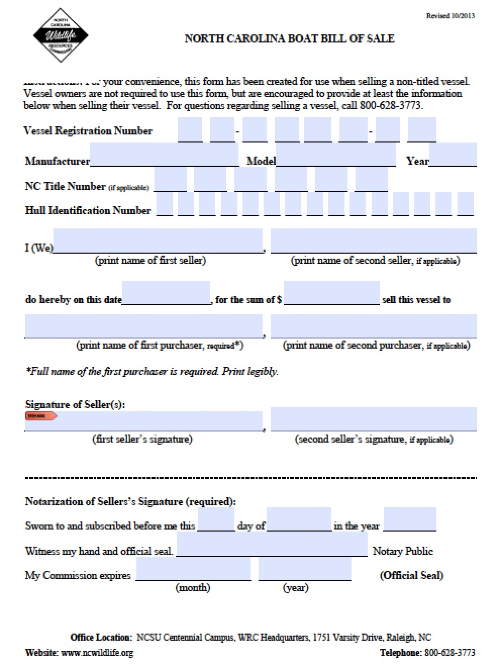 bill of sale form nc   Kleo.beachfix.co