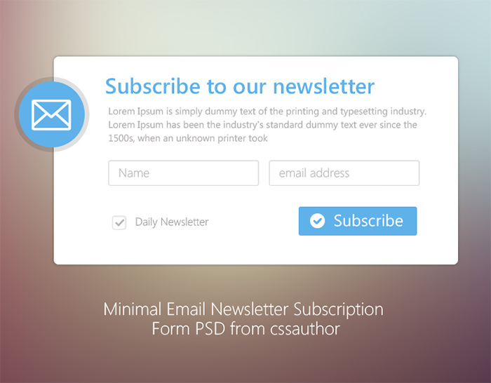 newsletter signup form template newsletter signup forms that rock