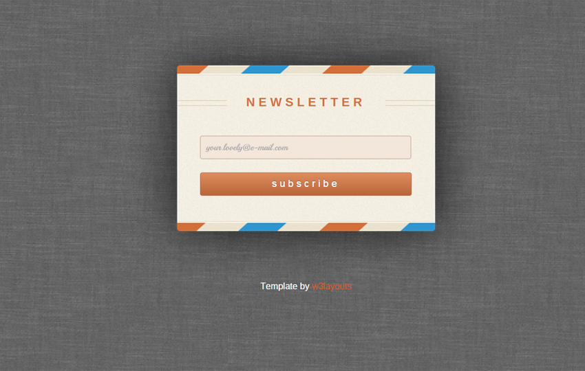Rebounded Newsletter Signup Form Template by W3layouts