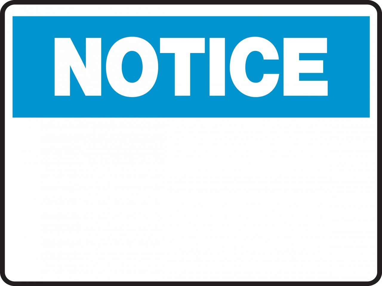 Clipart   Notice   Blank