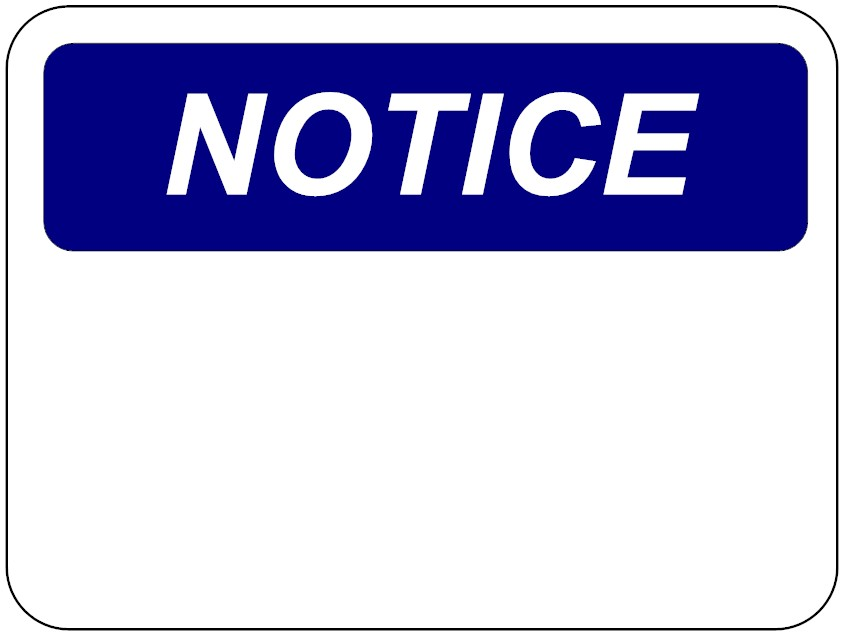 notice sign template