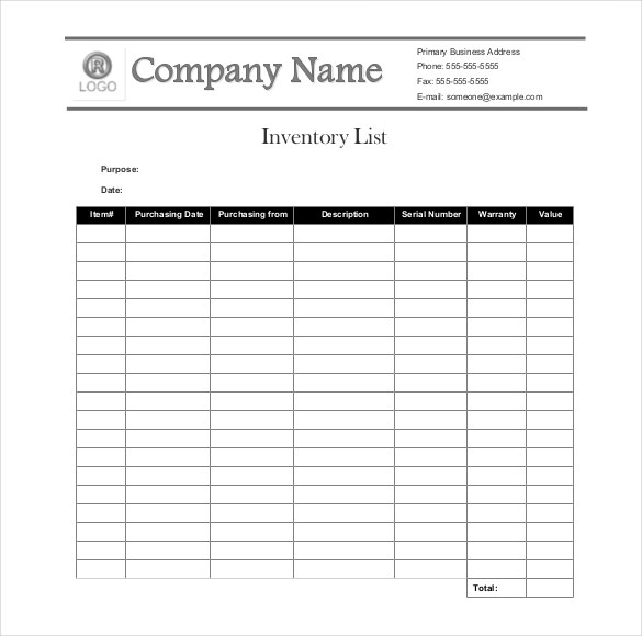 office inventory list template   Tier.brianhenry.co
