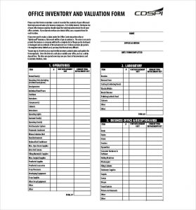 Office Inventory List | charlotte clergy coalition