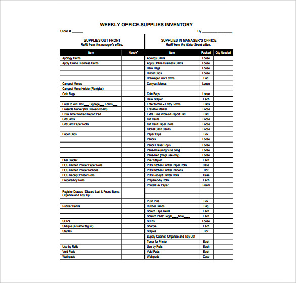 office supply checklist template excel charlotte clergy coalition. Black Bedroom Furniture Sets. Home Design Ideas