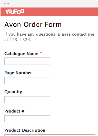 Online Order Form Templates | Wufoo