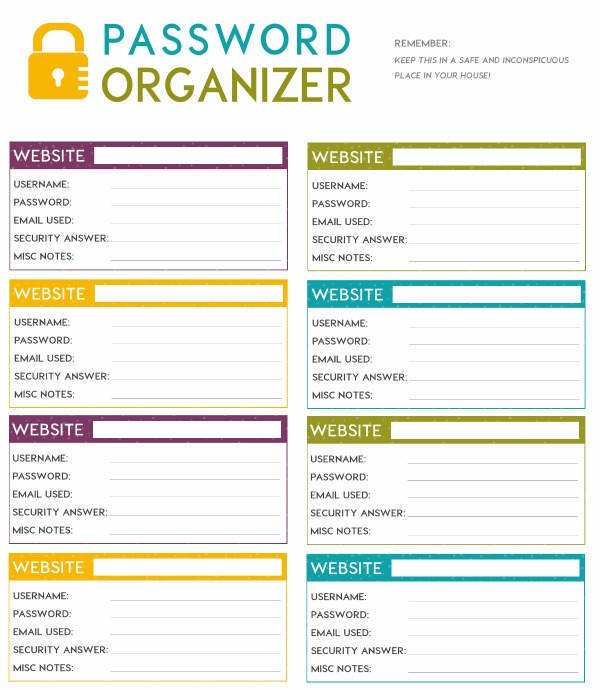 password template free   Google Search | Password | Pinterest
