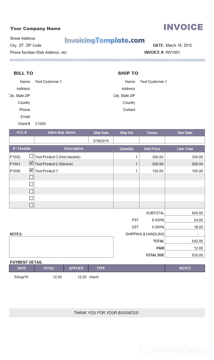 payment invoice template   April.onthemarch.co