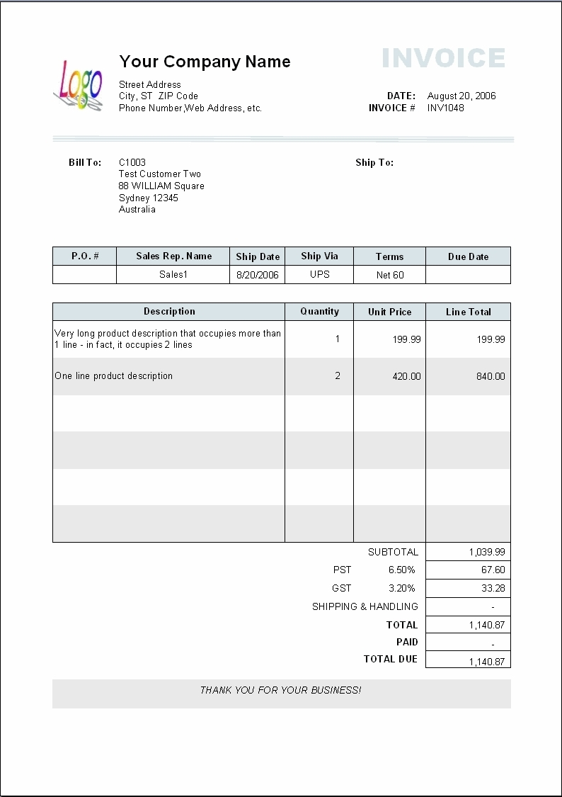 Payment Invoice Template Charlotte Clergy Coalition - Billing invoices templates