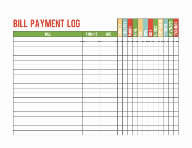 Payment Record Template Charlotte Clergy Coalition - Payment sheet template