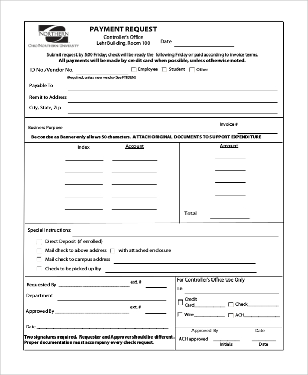 payment request template word  Payment Request Form Template | charlotte clergy coalition