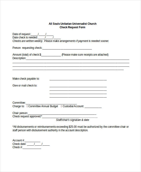 payment request form template charlotte clergy coalition