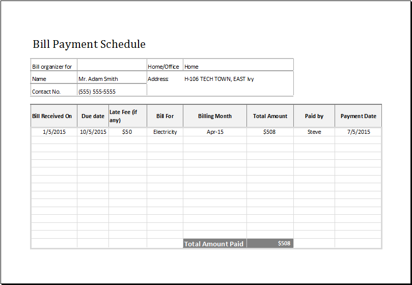 12 Free Payment Templates | Smartsheet
