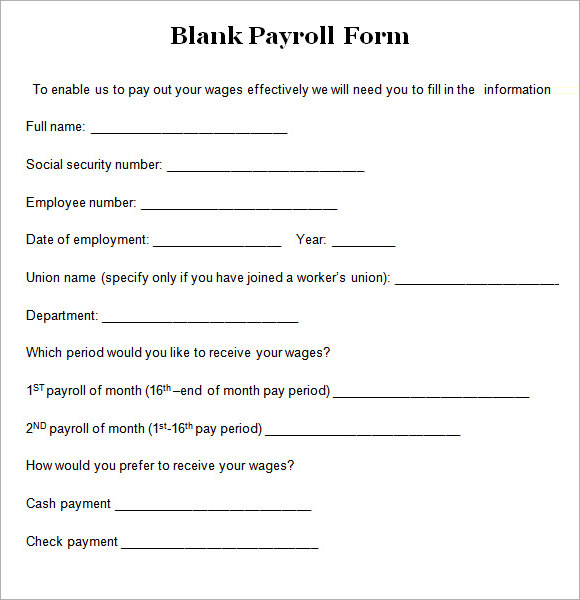 employee payroll forms template payroll agreement template sample
