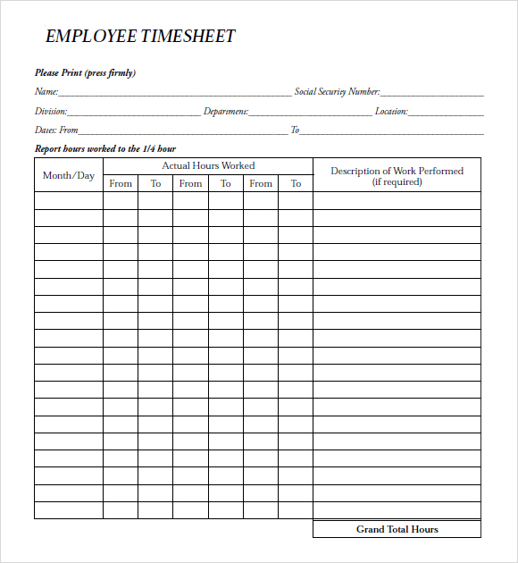 employee payroll forms template   Gecce.tackletarts.co