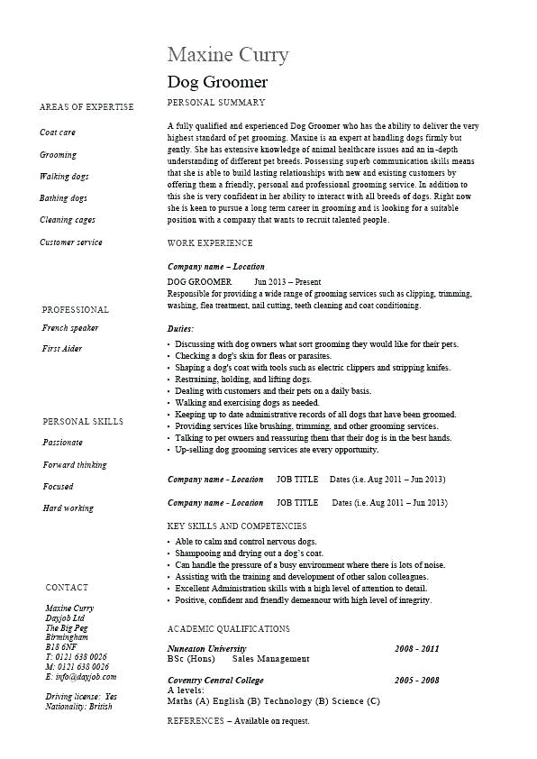 Pet Sitter Resume Pet Sitter Resume Wonderful Dog Sitter Resume