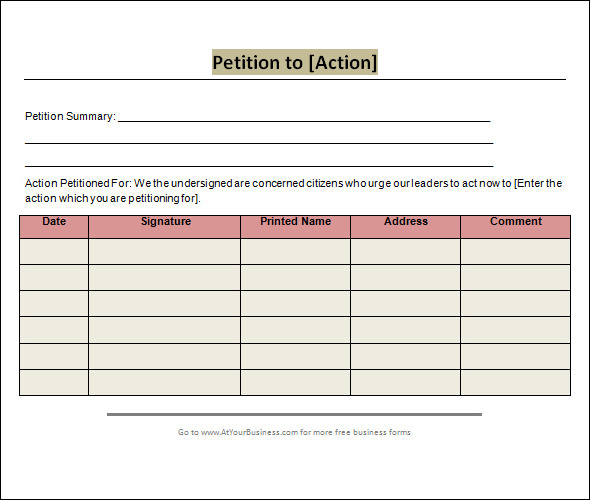 Petition Template Google Docs Charlotte Clergy Coalition - Google form templates for business
