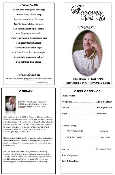 funeral order of service template free download uk   Kleo.beachfix.co